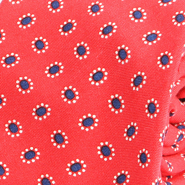Red & Blue Slim Polka Dot Cotton Tie - Handmade Limited Edition Ties by Tie Doctor