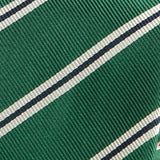 Green Trio Slim Silk Tie - Handmade Silk Wool And Knitted Ties by Tie Doctor