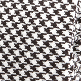Black & White Wool Houndstooth Slim Silk Tie - Handmade Silk Wool And Knitted Ties by Tie Doctor