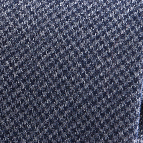 Blue Houndstooth Wool Tie - Handmade Limited Edition Ties by Tie Doctor