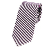Purple Silk Slim Ties