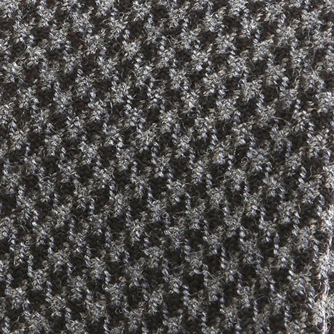 Grey Houndstooth Wool Tie - Handmade Limited Edition Ties by Tie Doctor