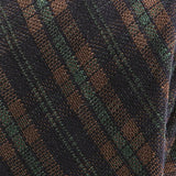 Brown & Green Check Slim Silk Tie - Handmade Silk Wool And Knitted Ties by Tie Doctor