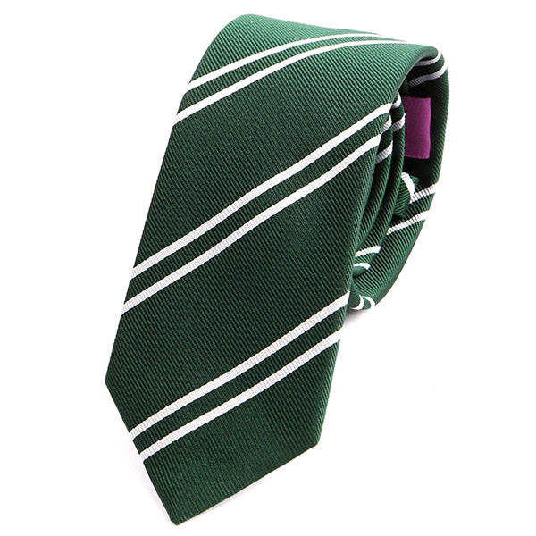 GREEN DUO CHECK SILK TIE - Handmade Silk Wool And Knitted Ties by Tie Doctor