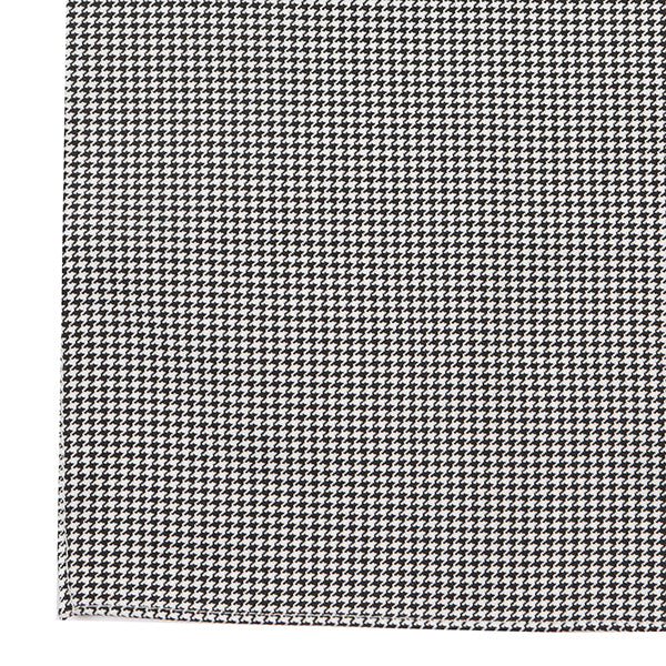 Black & White Houndstooth Wool Pocket Square