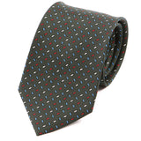 Green Macclesfield Sprinkle Silk Tie