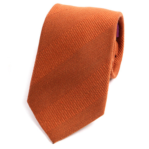 Orange Patterned Wool Ties