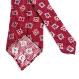Pink Cubed Silk and Wool Ties