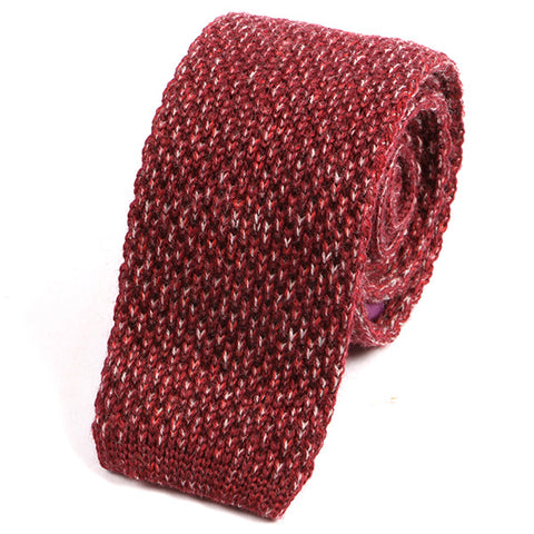 Red Wool Knitted Tie