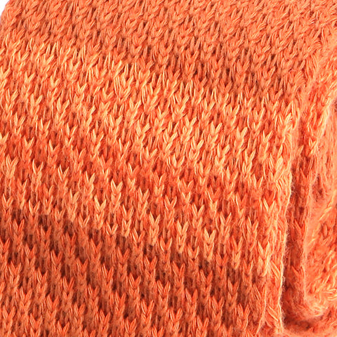 Orange Block Wool Knitted Tie