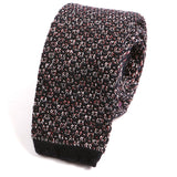 Fancy Black Wool Knitted Tie - Handmade Silk Wool And Knitted Ties by Tie Doctor