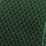 Green Wool Knitted Tie - Handmade Silk Wool And Knitted Ties by Tie Doctor