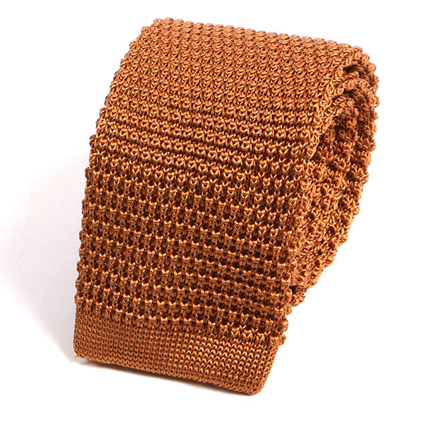 Rare Brown Silk Knitted Tie