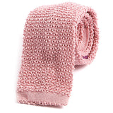 Salmon Pink Wide Silk Knitted Tie