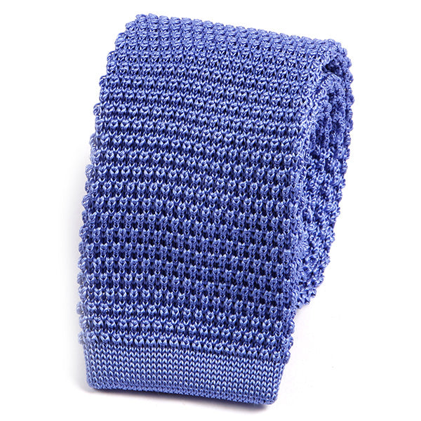 Royal Blue Silk Knitted Tie