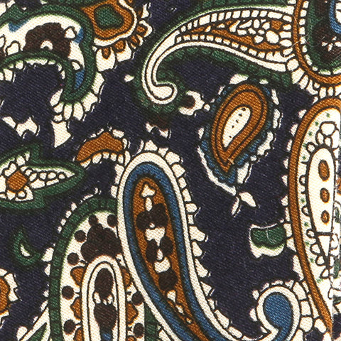 Navy Paisley Slim Tie - Handmade Silk Wool And Knitted Ties by Tie Doctor
