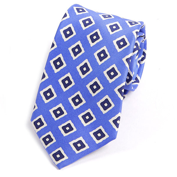 Persian Blue Cubed Silk Tie