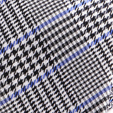 Black and Blue Lined Check Silk Tie - Handmade Silk Wool And Knitted Ties by Tie Doctor