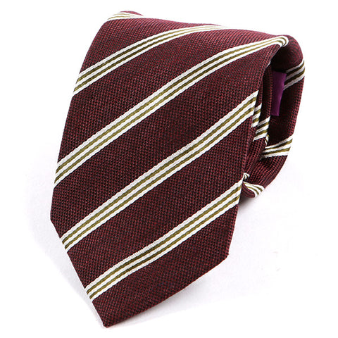 Burgundy Stripe Silk Tie