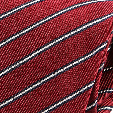Rich Red Striped Silk Tie
