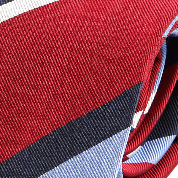 Red Striped Silk Slim Tie