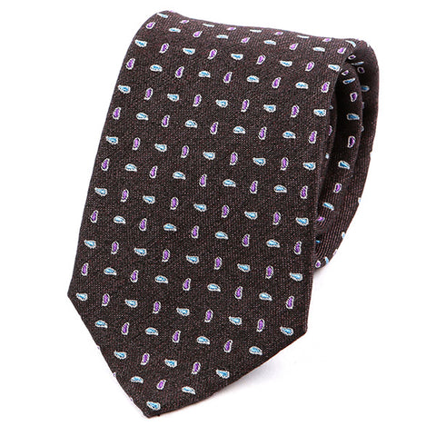 Paisley Jewel Silk & Wool Tie