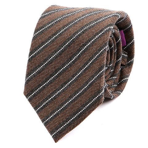 Offa Stripe Wide Wool Tie