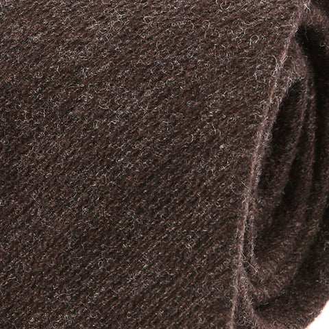 Chocolate Brown Wool Tie