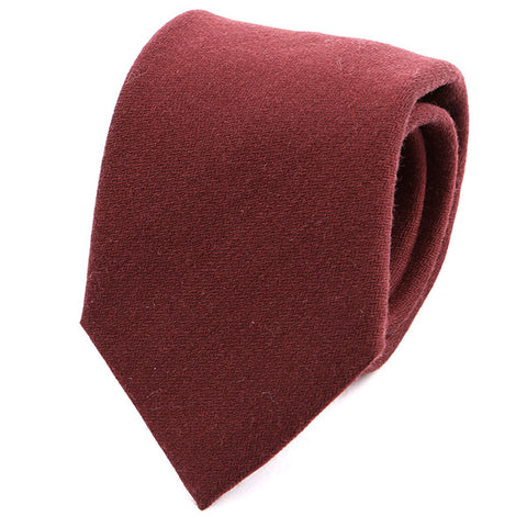 Dark Red Wool Tie