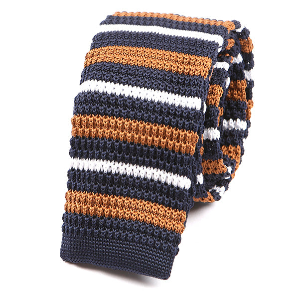 Caramel Brown Knitted Tie