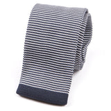 Navy & White Knitted Tie