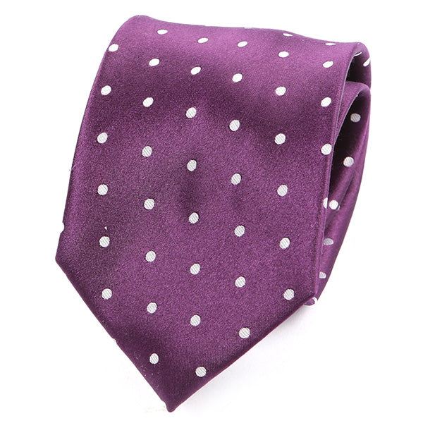 Rich Purple Polka Dot Silk Tie