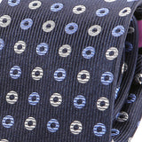 Crimson Blue Dunkin Silk Tie