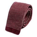Red Batson Wool Knit Tie