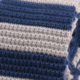 Ricardo Light Blue Striped Knit Wool Tie