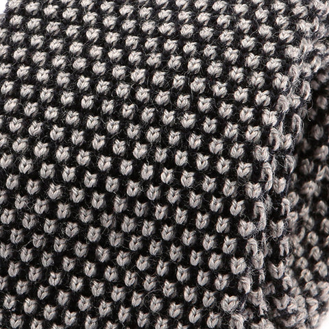 Fiji Grey Wool Knit Tie