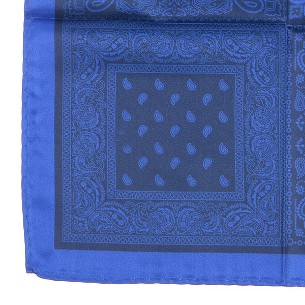 Blue 4-Sided Pocket Square