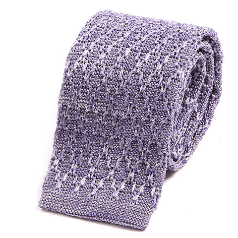 Light Purple Silk Knitted Tie