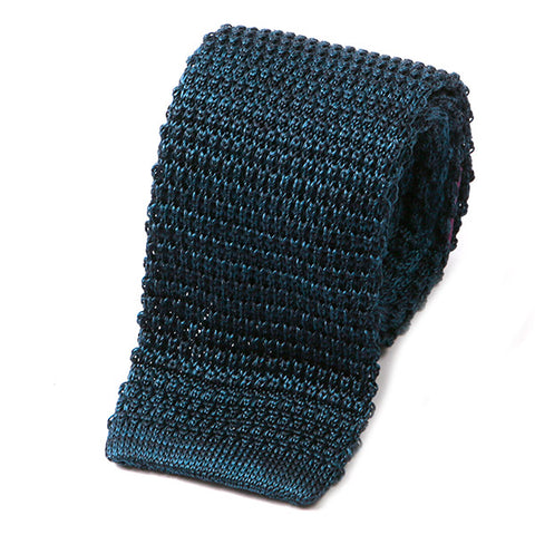 Navy Blue Marl Silk Knitted Tie
