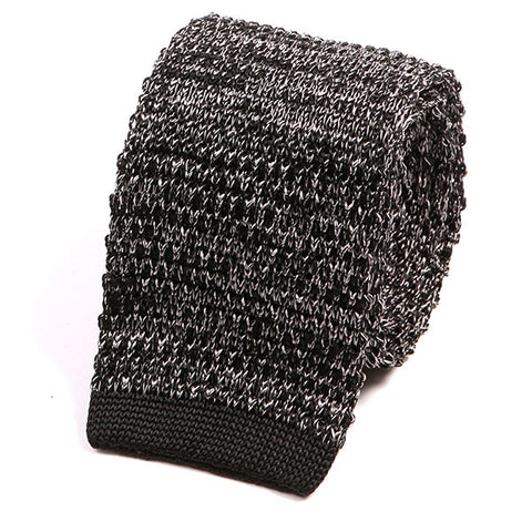 Black Silk Knitted Tie
