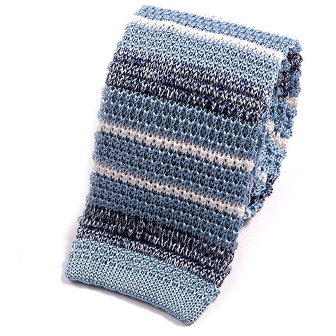 Light Blue Silk Trio Knitted Tie