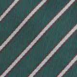 Green Striped Slim Tie - Handmade Silk Wool And Knitted Ties by Tie Doctor