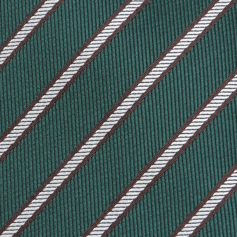 Green Striped Slim Tie