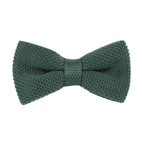 Green Knitted Pre-Tied Bow Tie - Handmade Limited Edition Ties by Tie Doctor