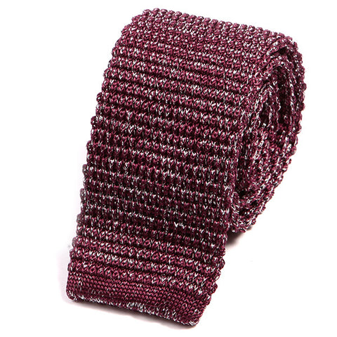 Red Glitter Silk Knitted Tie