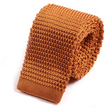 Gingerbread Marl Silk Knitted Tie