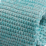 Light Blue Marl Silk Knitted Tie