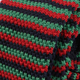 Green and Red Knitted Tie - Handmade Silk Wool And Knitted Ties by Tie Doctor