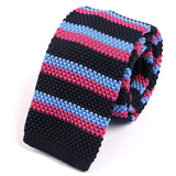 Navy Metro Knitted Tie - Handmade Silk Wool And Knitted Ties by Tie Doctor