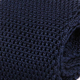 Plain Navy Blue Silk Knitted Tie